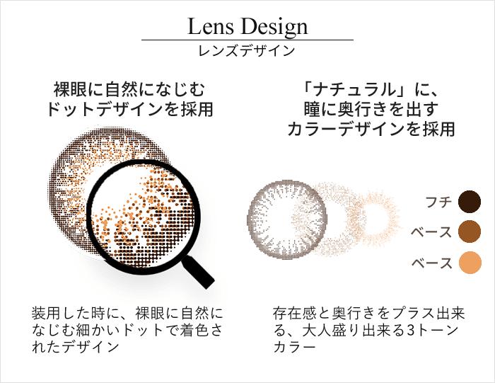 ブリックブラウン レンズデザイン