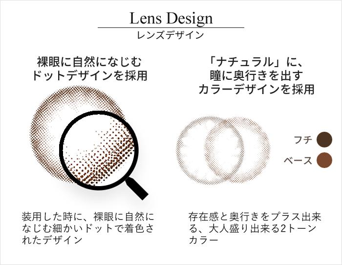ラテブラウン レンズデザイン